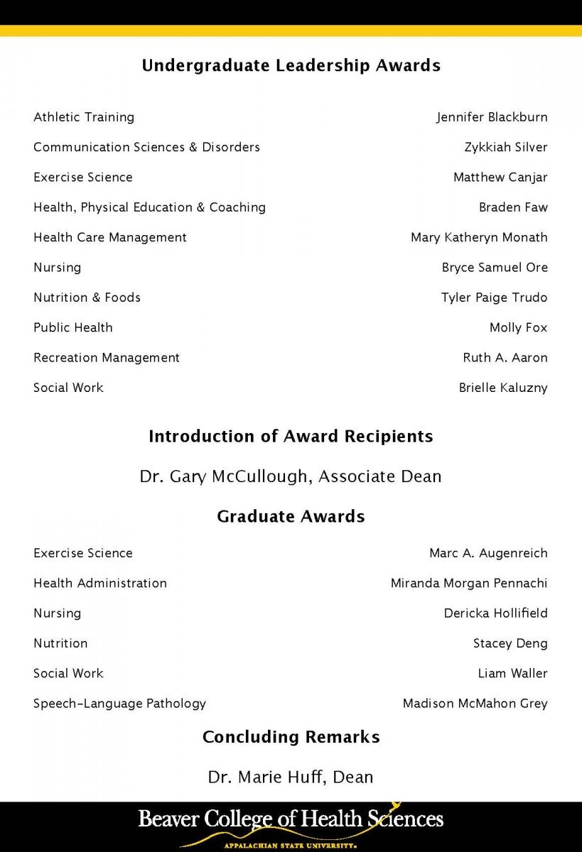 Student Awards Program page 2