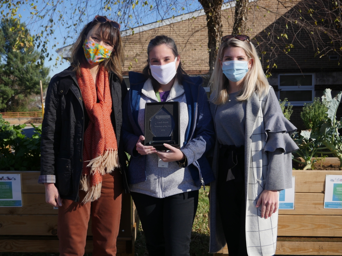 From left to right, Horticulture Agent Hannah Lepsch, WIC Supervisor Laken Royall, Family and Consumer Science Agent Ashley Beard. Photo submitted