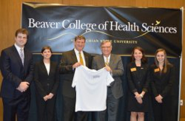 The College of Health Sciences at Appalachian State University has been named for an Appalachian alumnus and pioneer in the health care industry – Donald C. Beaver of Conover.