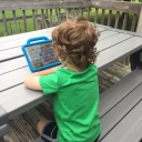 The 3-year-old pictured uses an augmentative and alternative communication (AAC) device. Photo submitted