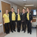 Nursing students at Ashe Memorial Hospital