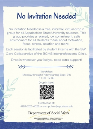 No Invitation Needed Flyer