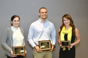 Winners of the three-minute thesis competition