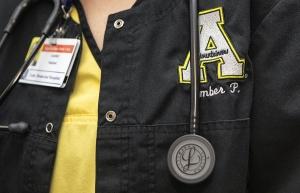 Close up of scrubs