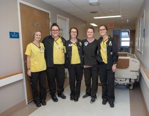Nursing students at Ashe Memorial Hospital