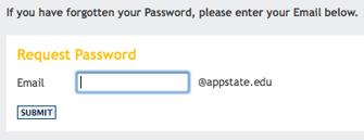email password screenshot
