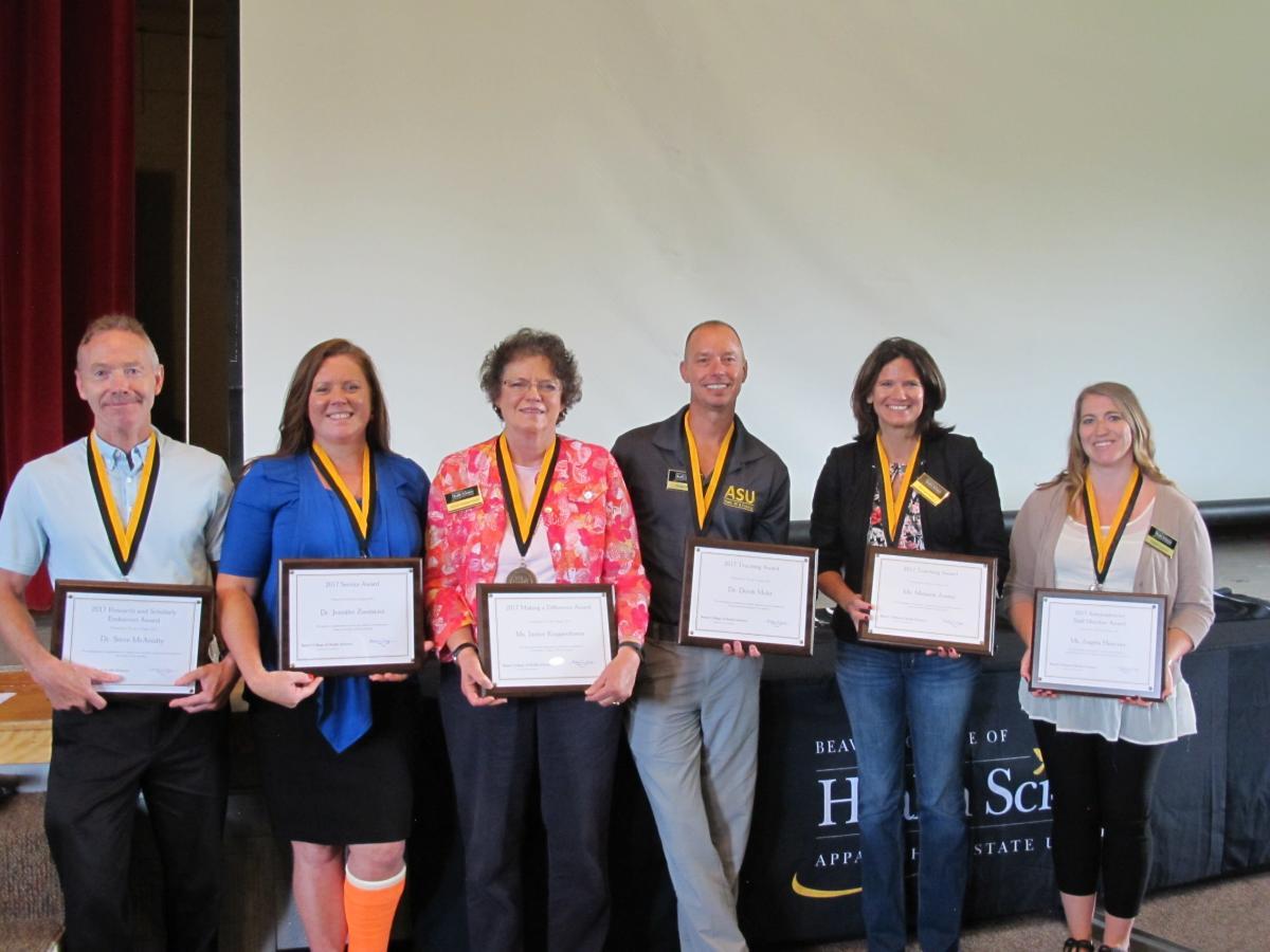 BCHS 2017 Award Winners