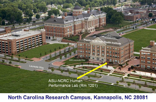 North Carolina Research Campus, Kannapolis, NC map