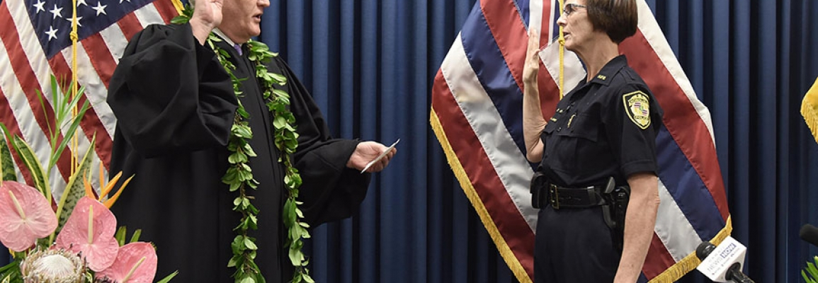Susan Ballard sworn in