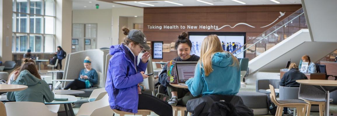 Students in atrium at LLHS
