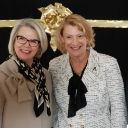 UNC President Margaret Spellings with Appalachian State University Chancellor Sheri Everts.