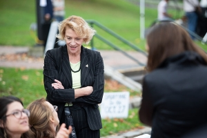Chancellor at community feast